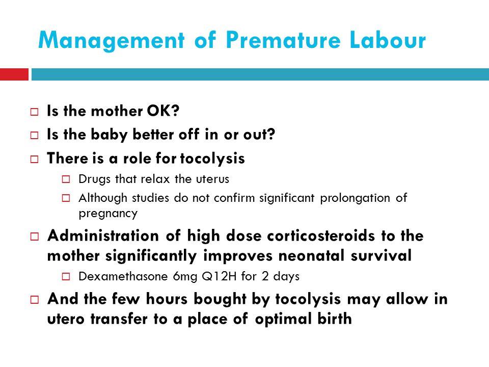 Management of Premature Labour