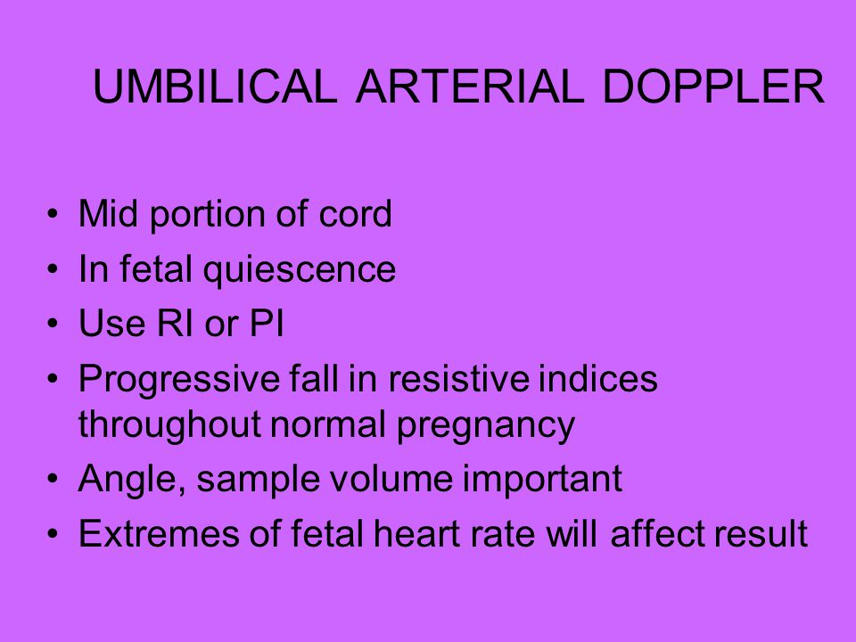 UMBILICAL ARTERIAL DOPPLER
