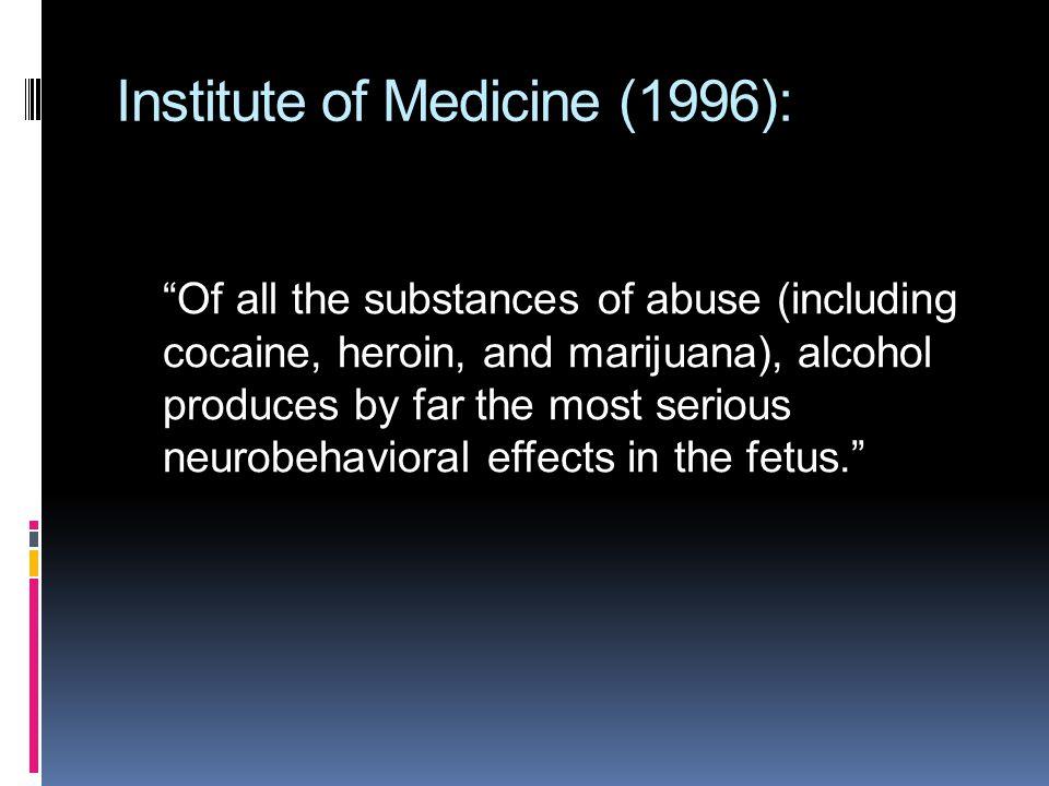 Institute of Medicine (1996):