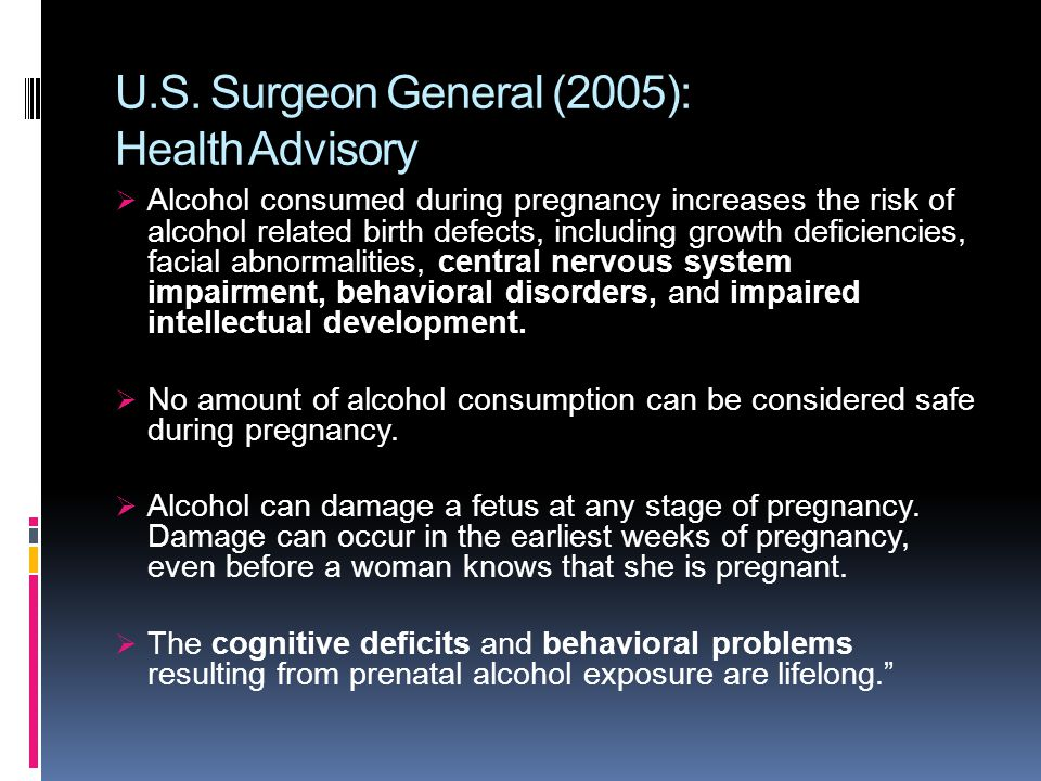 U.S. Surgeon General (2005): Health Advisory