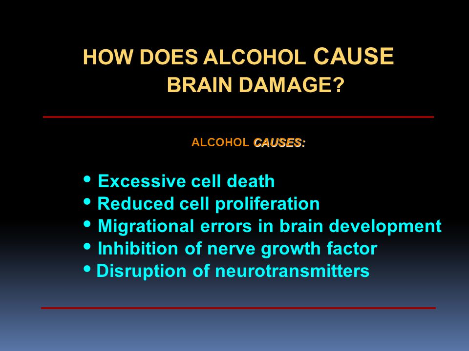 • Reduced cell proliferation • Migrational errors in brain development