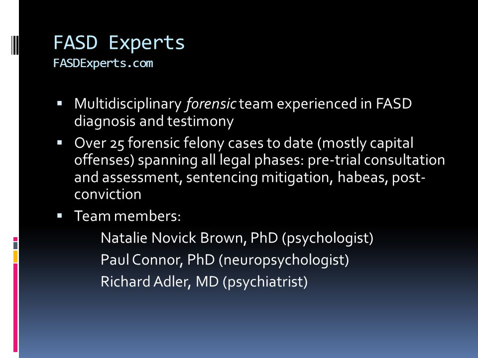 FASD Experts FASDExperts.com