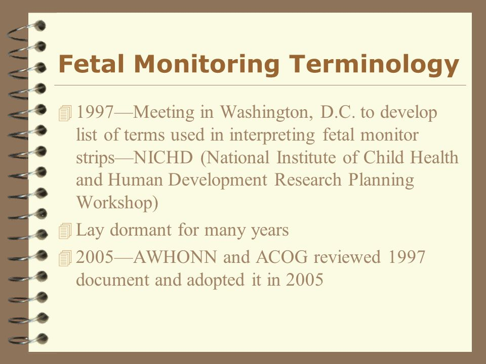 Fetal Monitoring Terminology