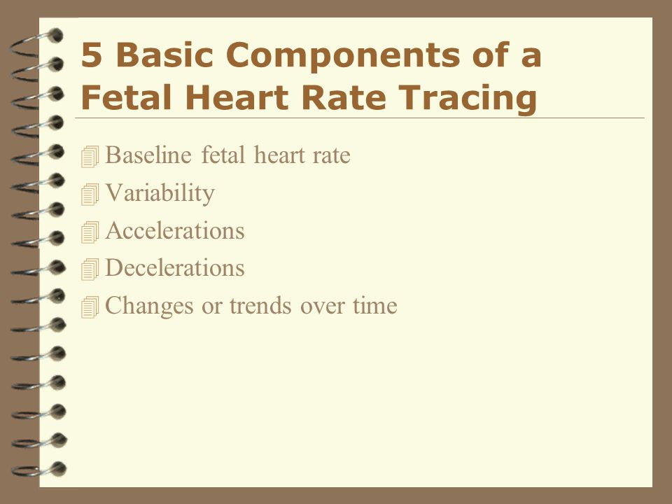 5 Basic Components of a Fetal Heart Rate Tracing