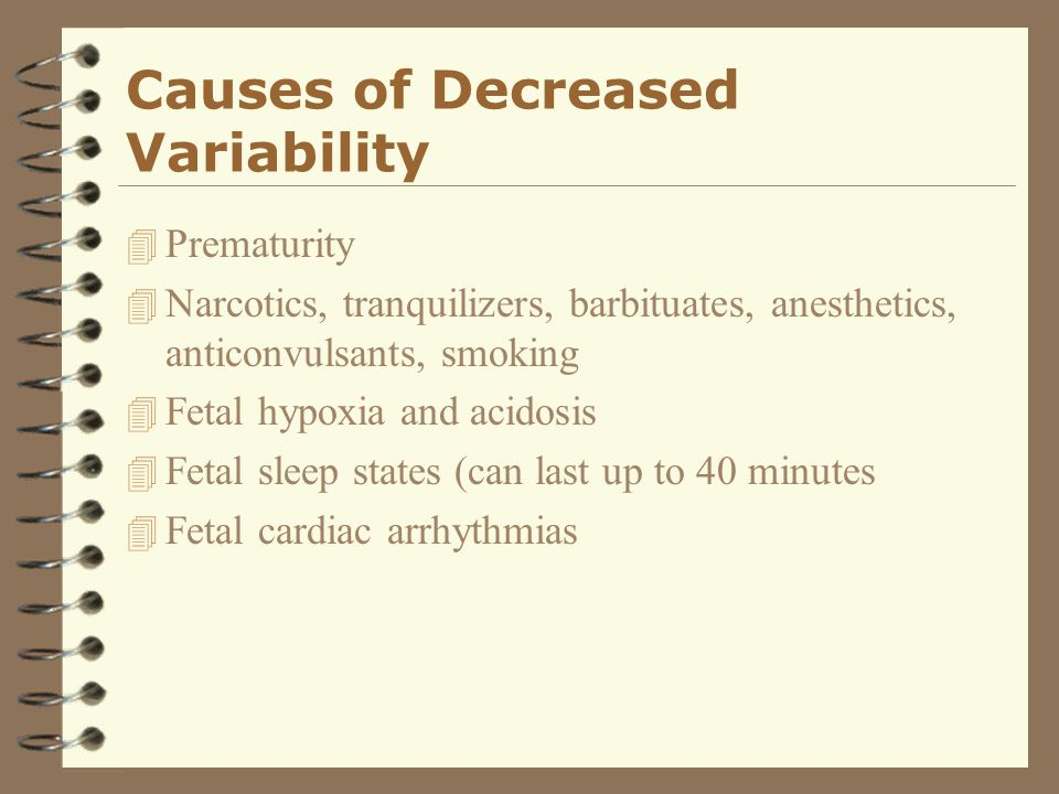 Causes of Decreased Variability