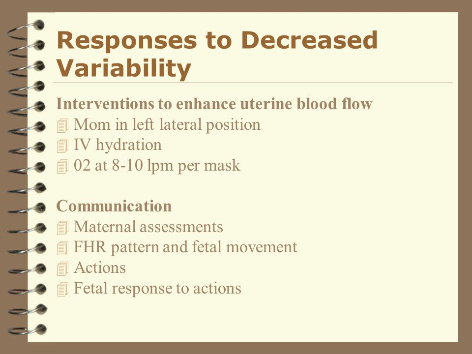 Responses to Decreased Variability