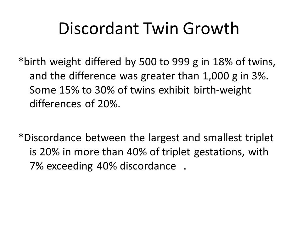 Discordant Twin Growth