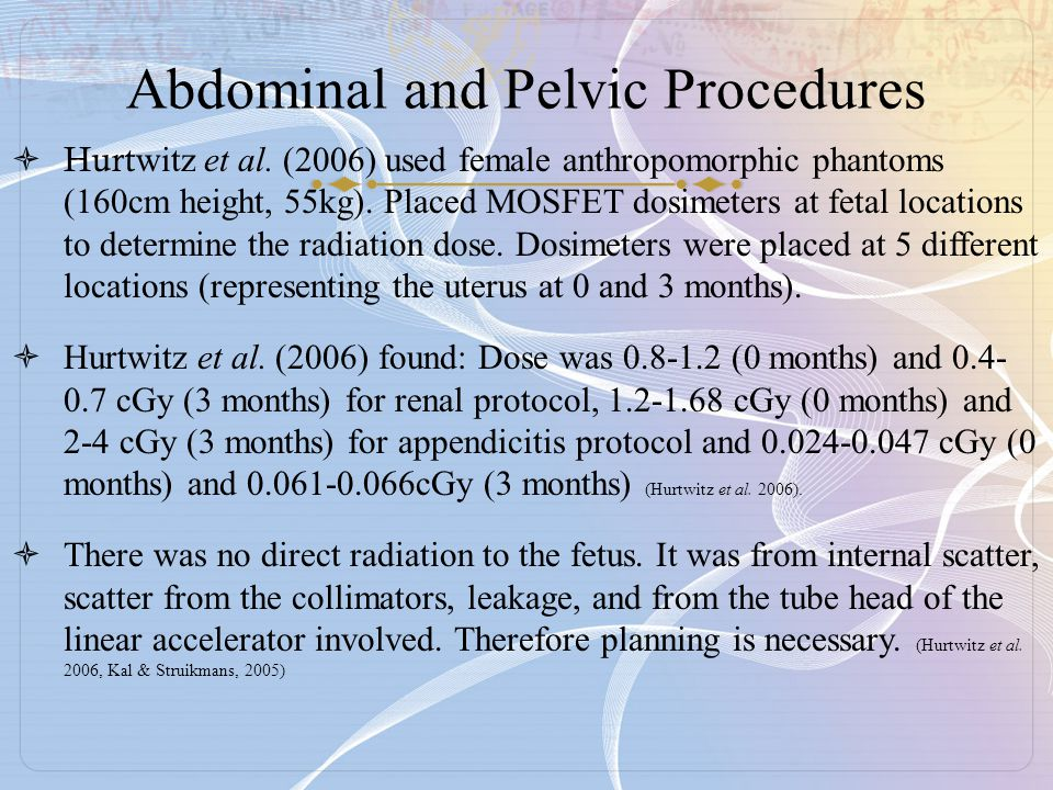 Abdominal and Pelvic Procedures