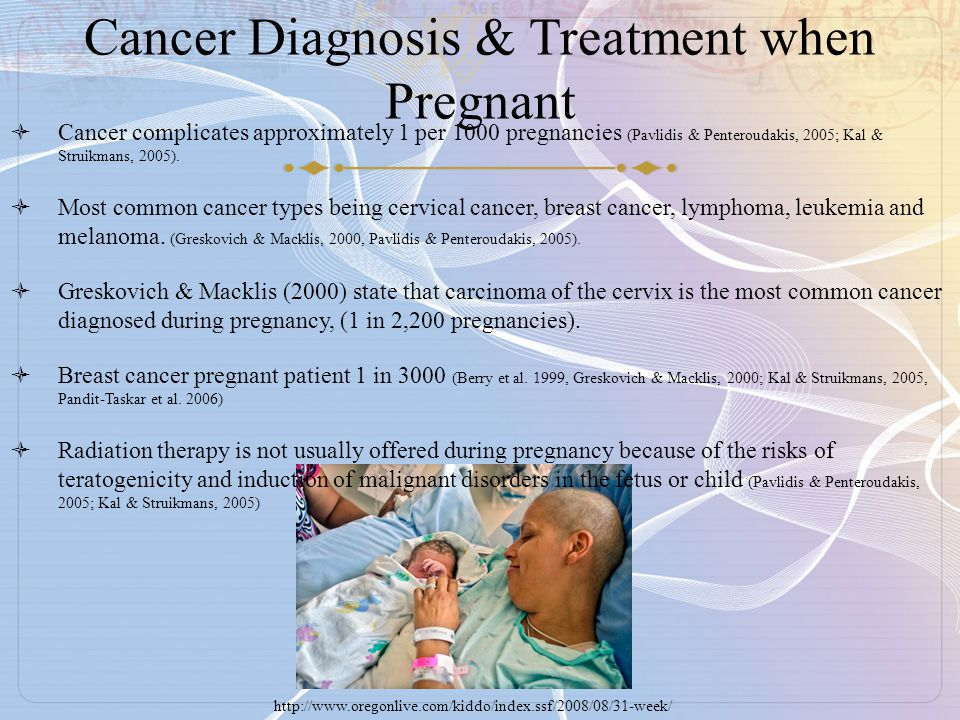 Cancer Diagnosis & Treatment when Pregnant