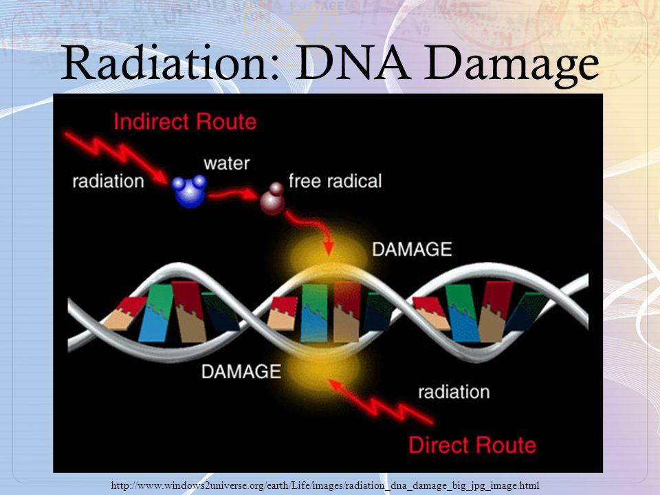 Radiation: DNA Damage http://www.windows2universe.org/earth/Life/images/radiation_dna_damage_big_jpg_image.html.