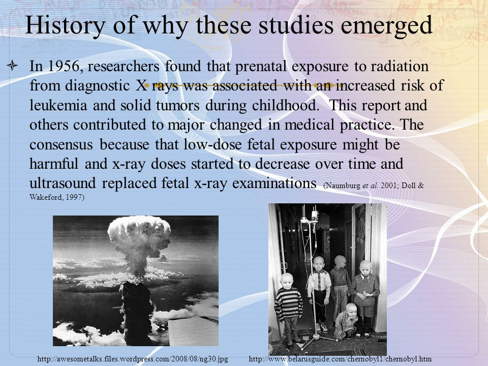 History of why these studies emerged