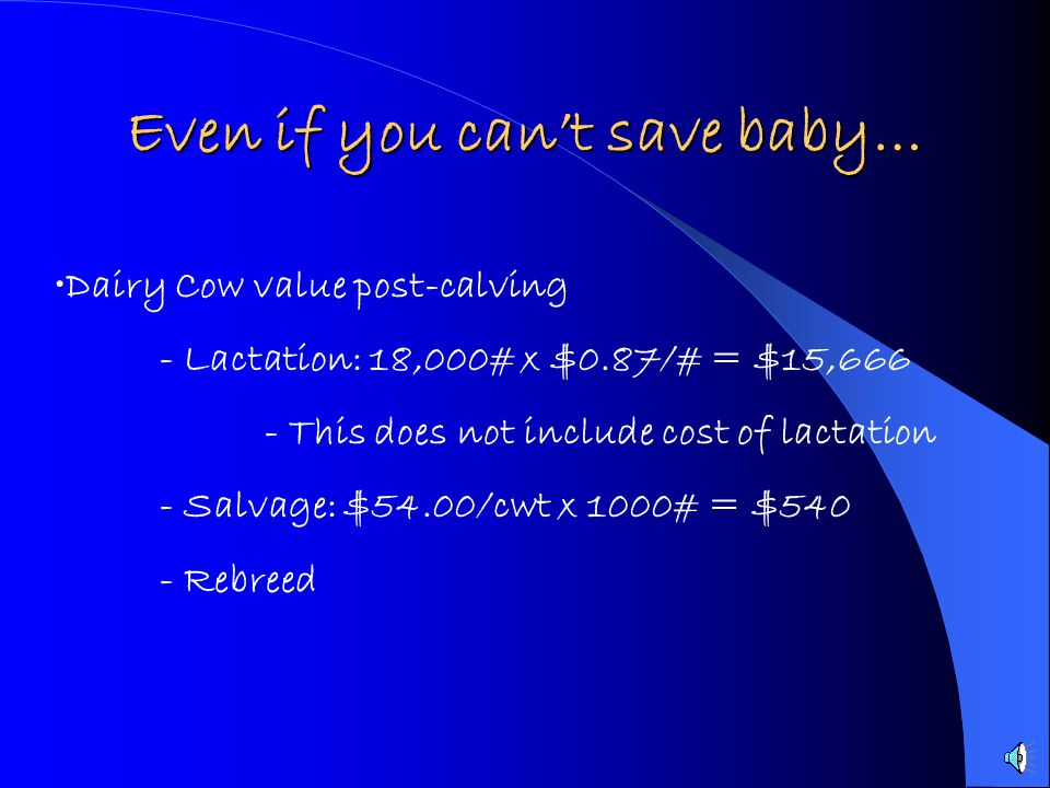 Even if you can't save baby…