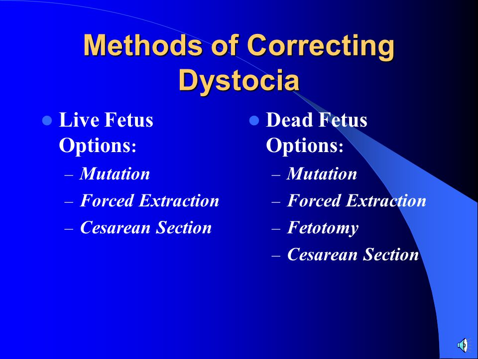 Methods of Correcting Dystocia