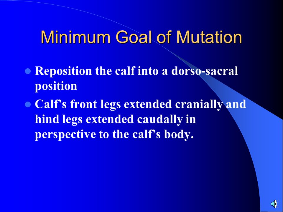 Minimum Goal of Mutation