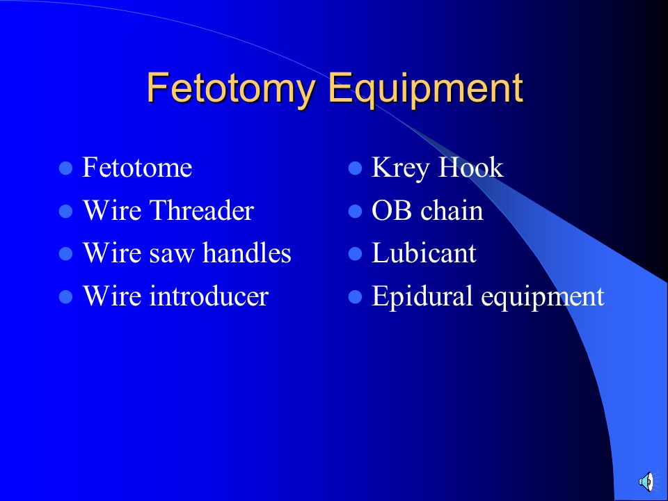 Fetotomy Equipment Fetotome Wire Threader Wire saw handles