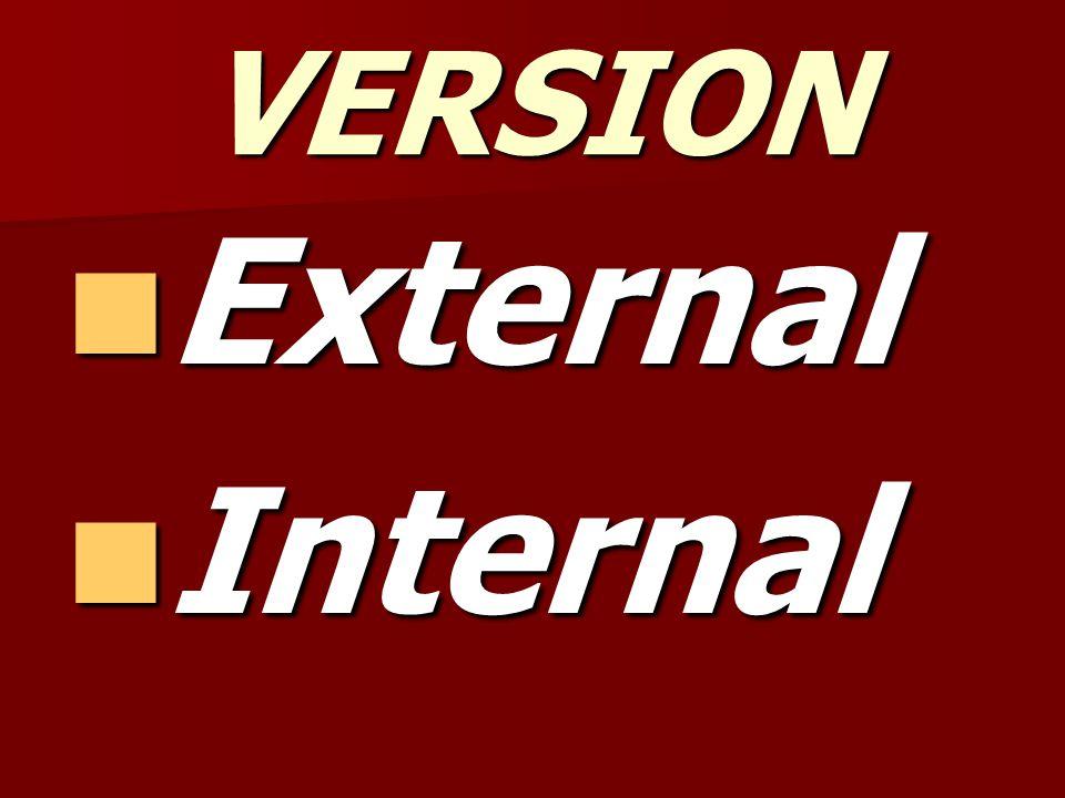 VERSION External Internal