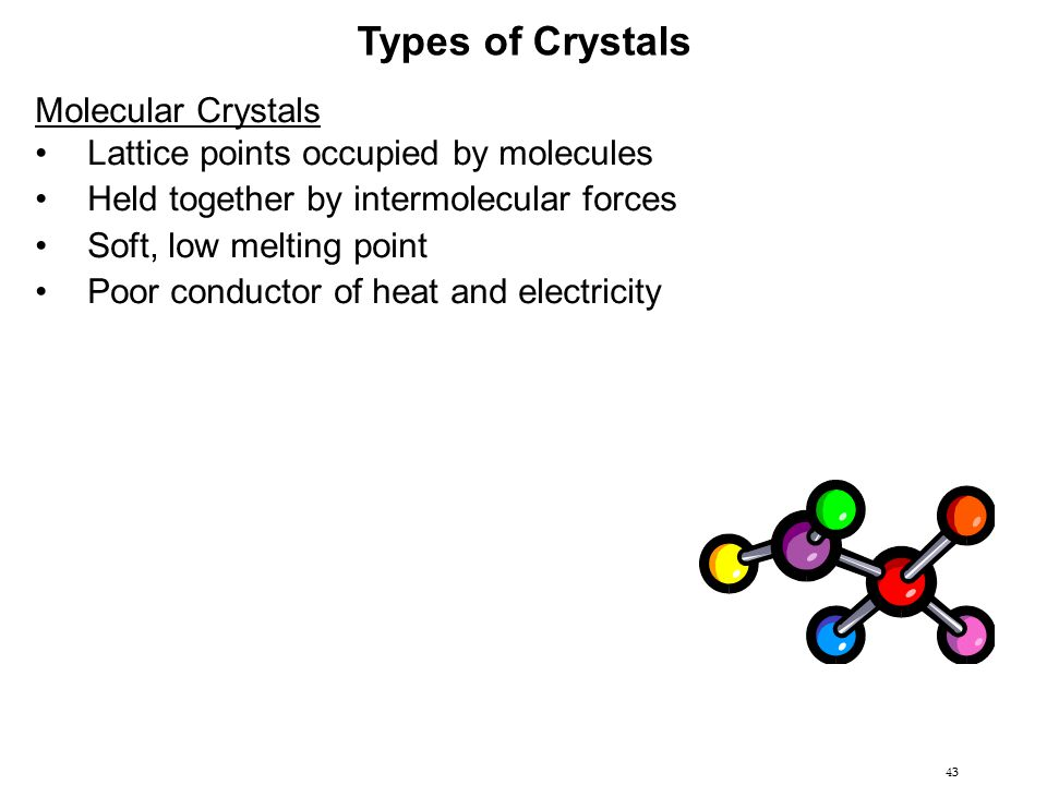 Types of Crystals Molecular Crystals