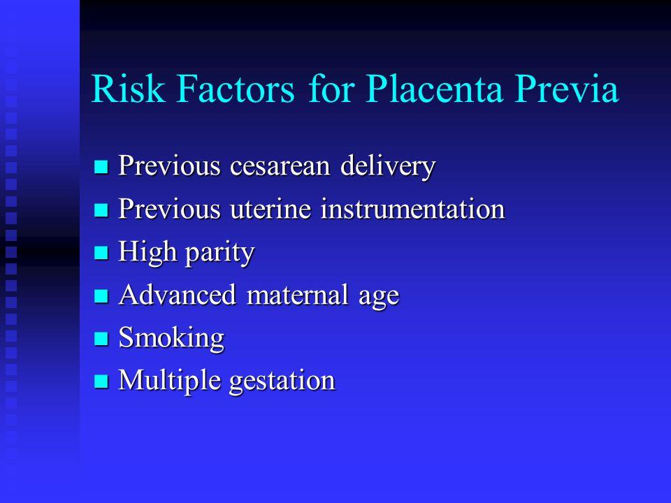 Risk Factors for Placenta Previa