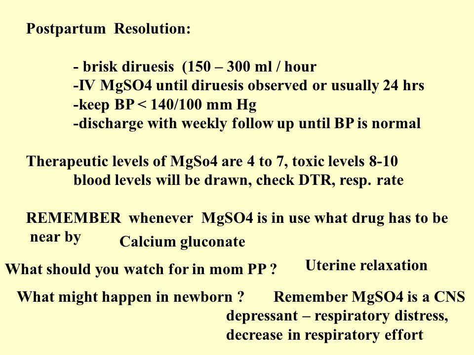 Postpartum Resolution: