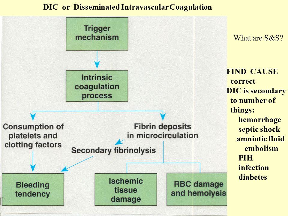 DIC or Disseminated Intravascular Coagulation