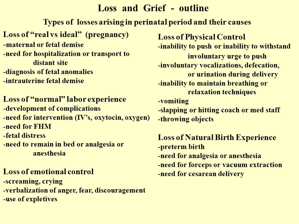 Loss and Grief - outline