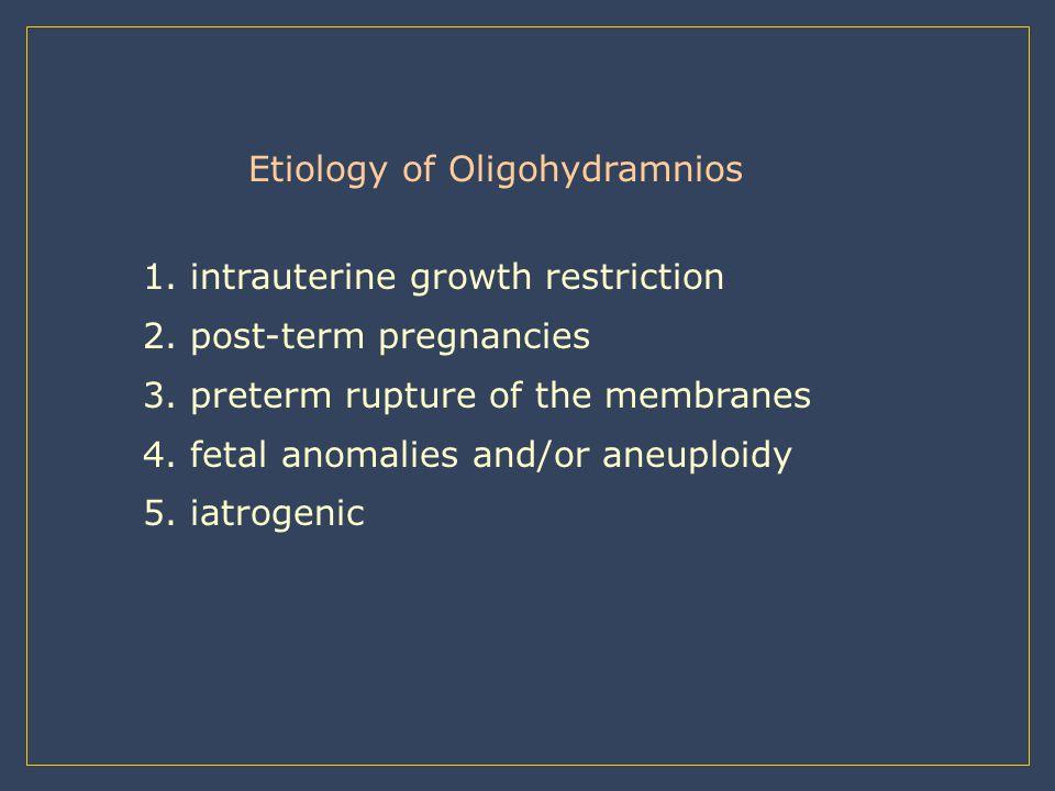 Etiology of Oligohydramnios