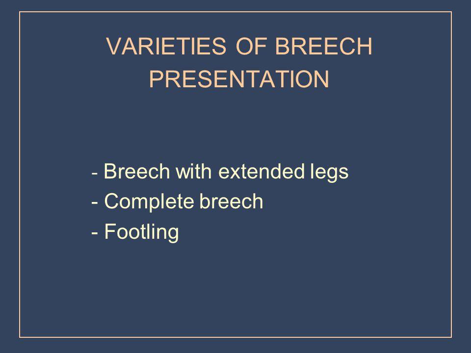 VARIETIES OF BREECH PRESENTATION