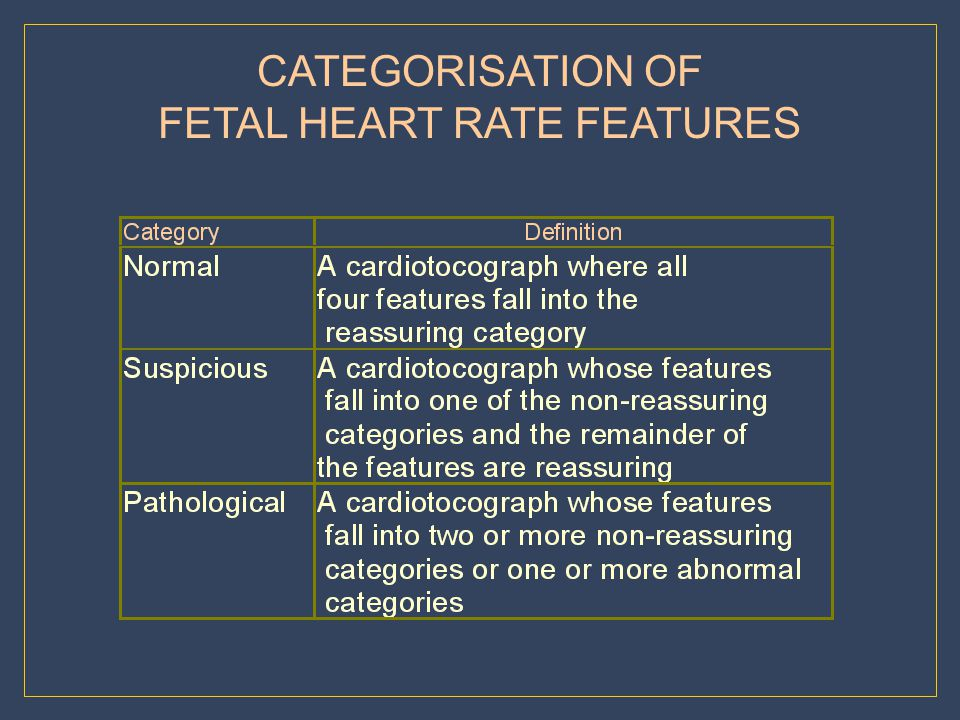 FETAL HEART RATE FEATURES