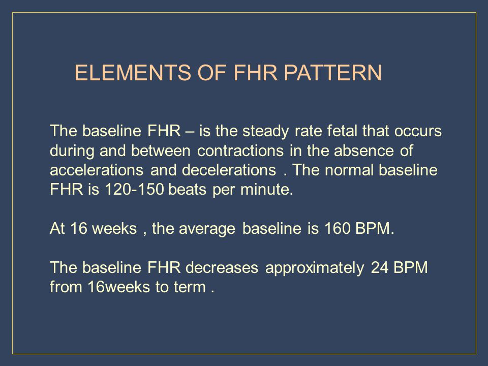 ELEMENTS OF FHR PATTERN