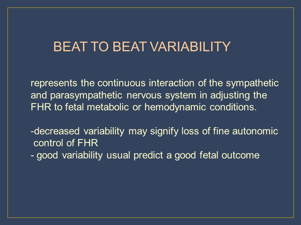BEAT TO BEAT VARIABILITY