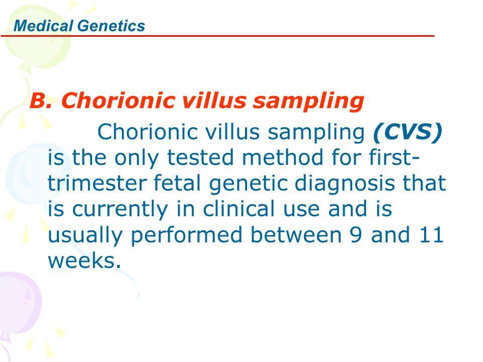 B. Chorionic villus sampling