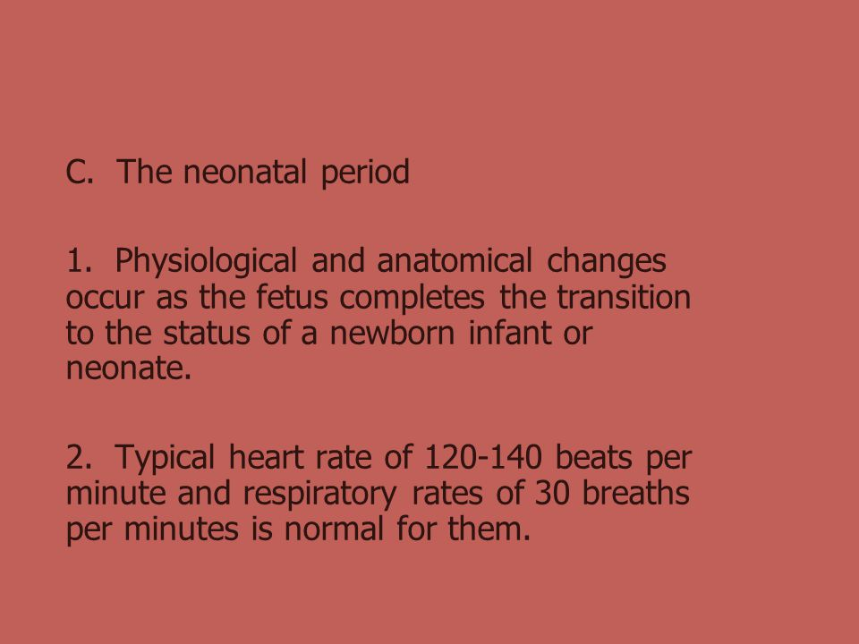 C. The neonatal period