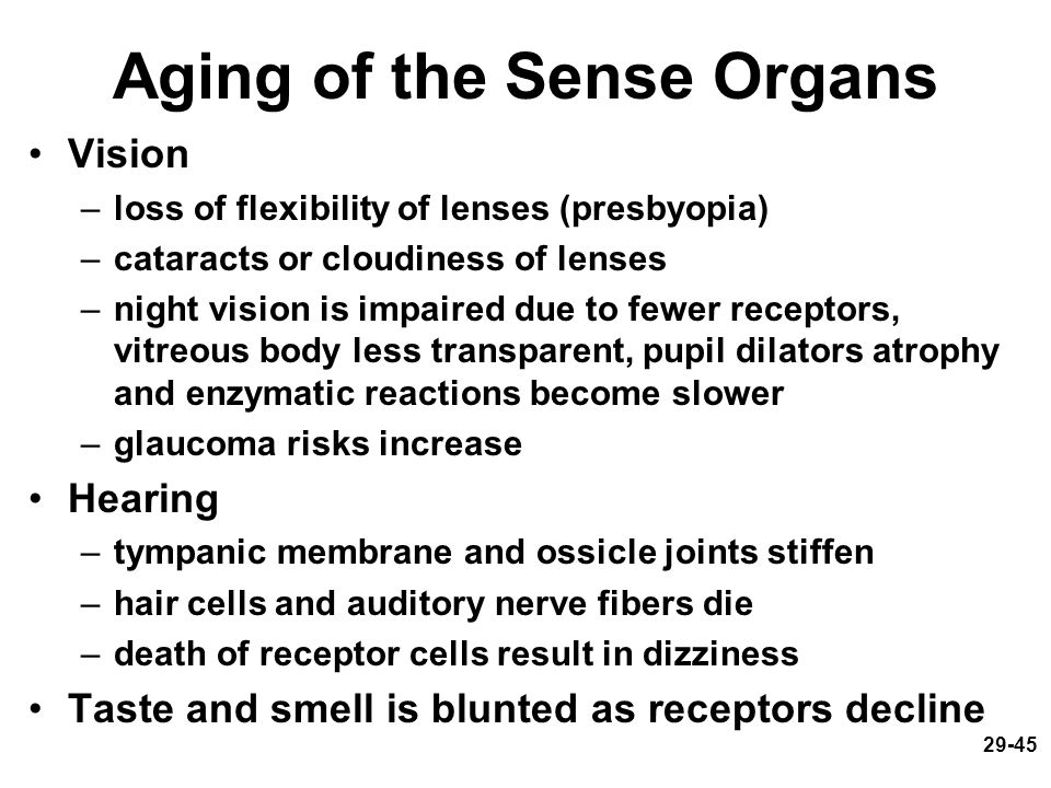 Aging of the Sense Organs