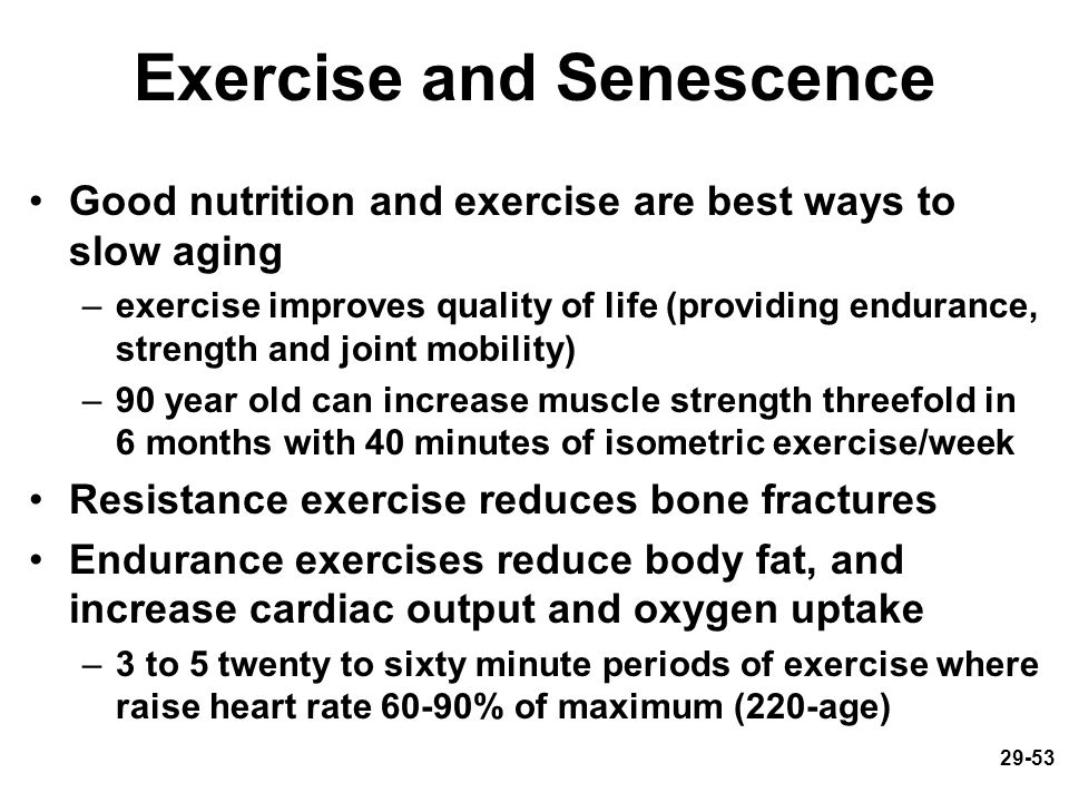 Exercise and Senescence