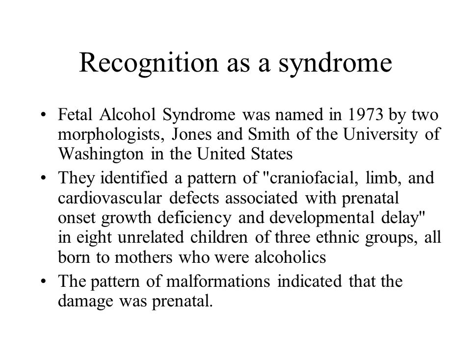 Recognition as a syndrome