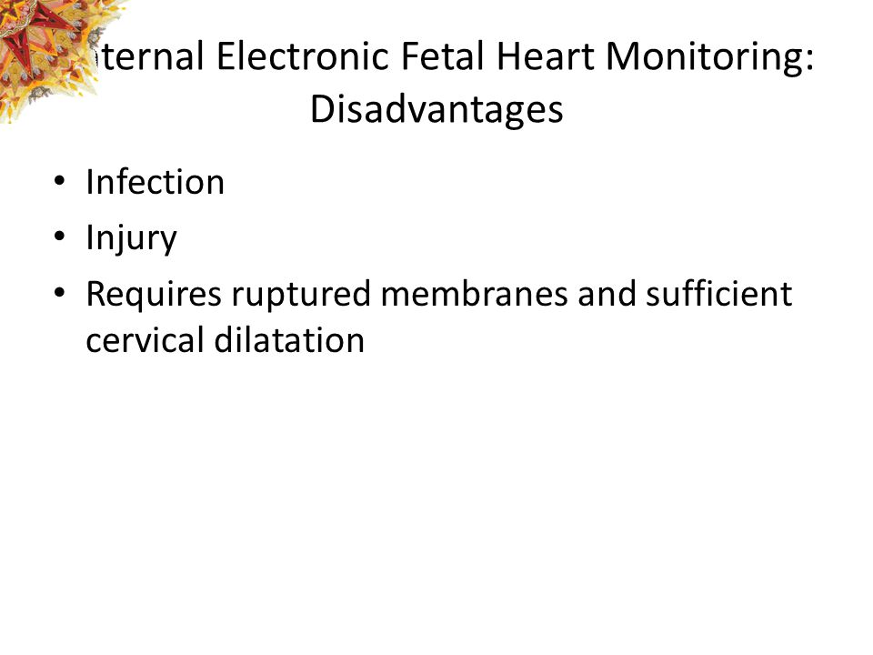 Internal Electronic Fetal Heart Monitoring: Disadvantages