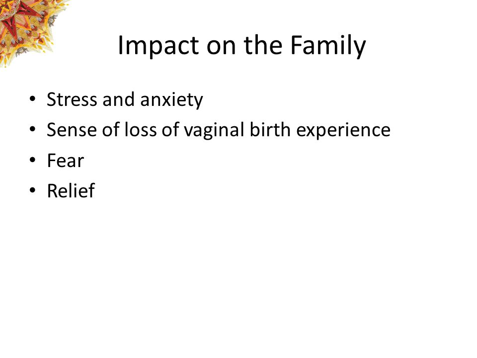 Impact on the Family Stress and anxiety