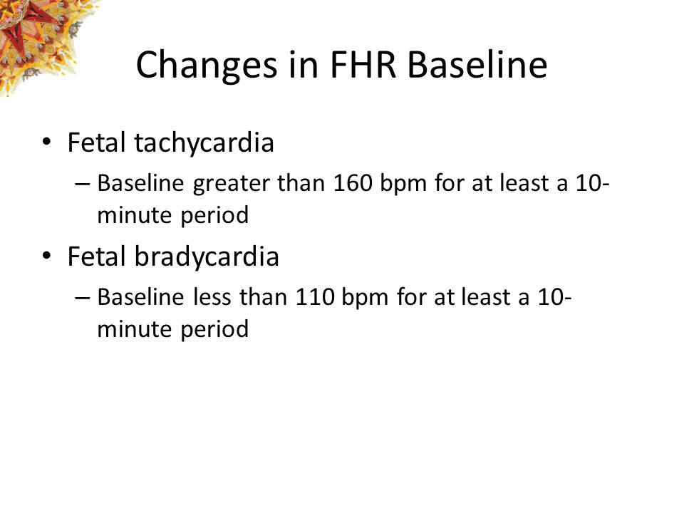 Changes in FHR Baseline