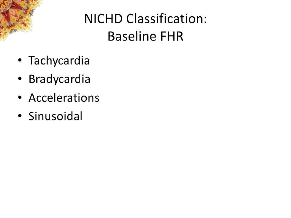 NICHD Classification: Baseline FHR