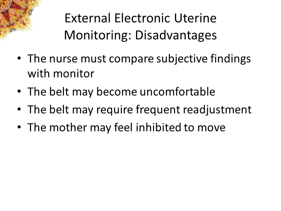 External Electronic Uterine Monitoring: Disadvantages