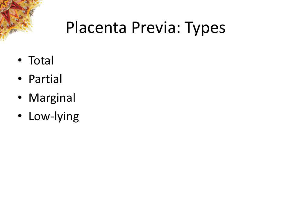 Placenta Previa: Types