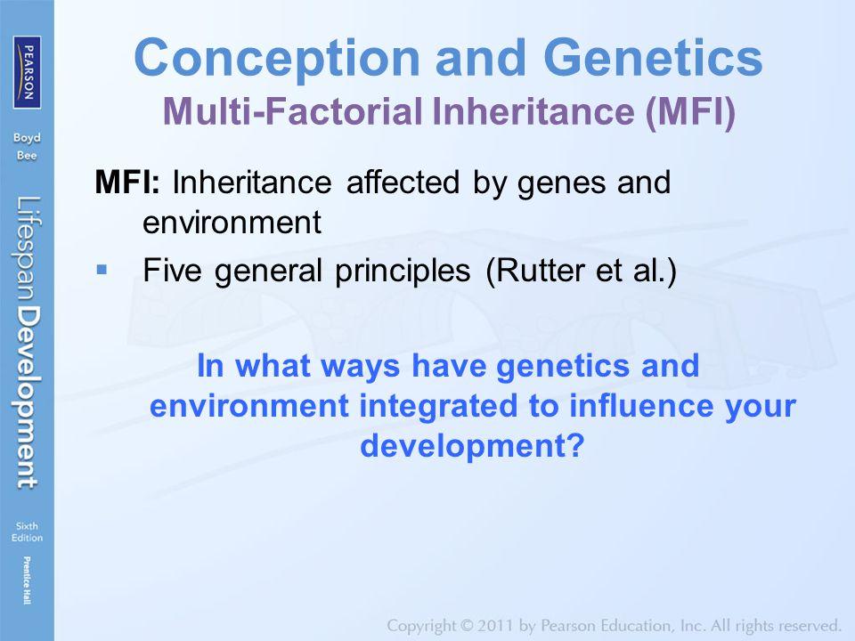 Conception and Genetics Multi-Factorial Inheritance (MFI)