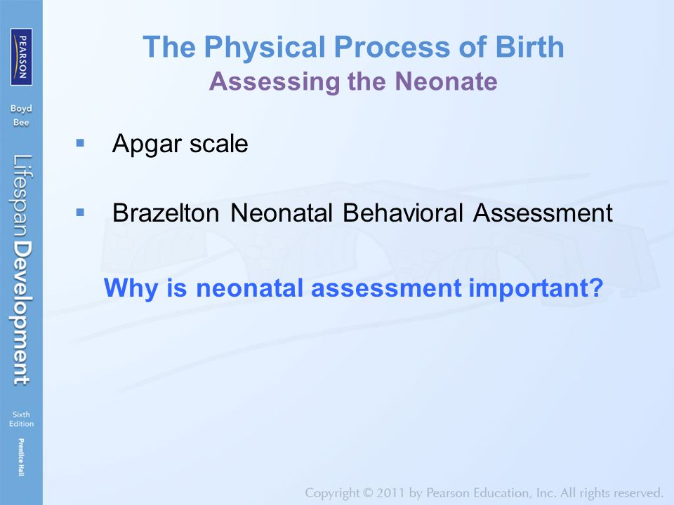 The Physical Process of Birth Assessing the Neonate