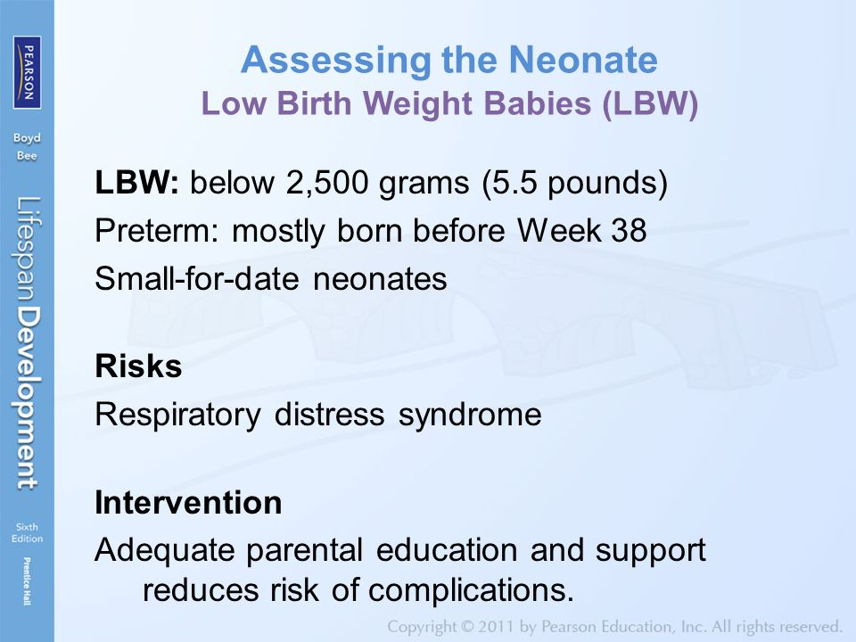 Assessing the Neonate Low Birth Weight Babies (LBW)
