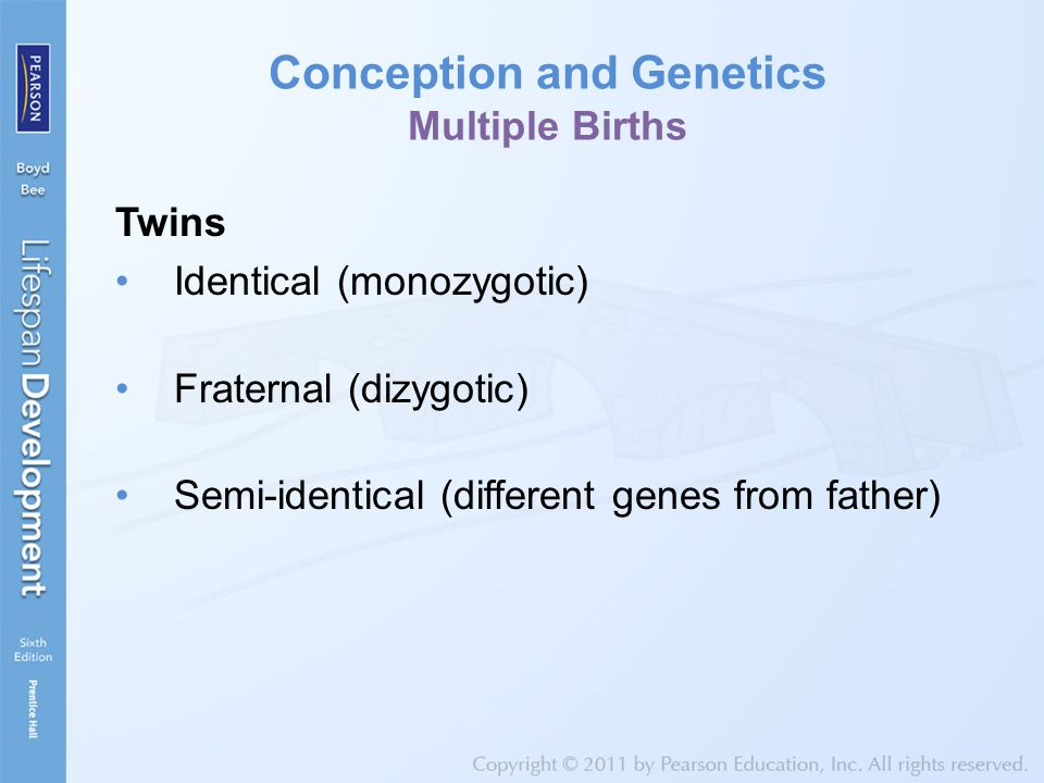 Conception and Genetics Multiple Births