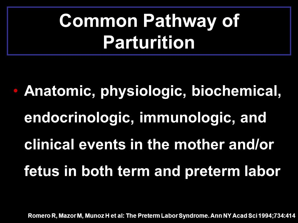 Common Pathway of Parturition