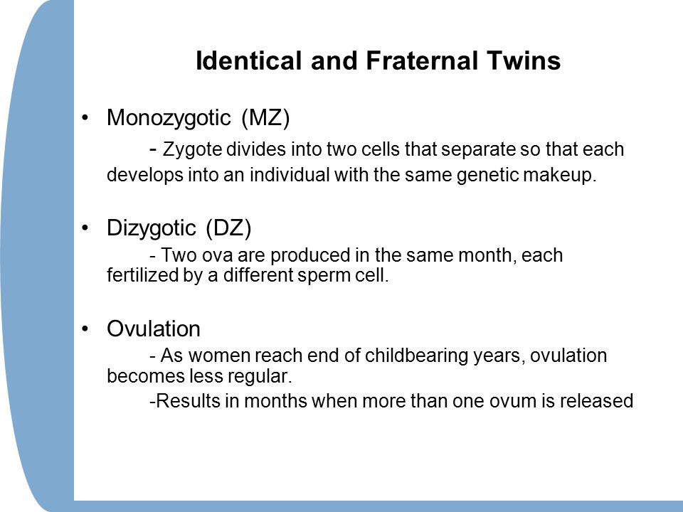 Identical and Fraternal Twins