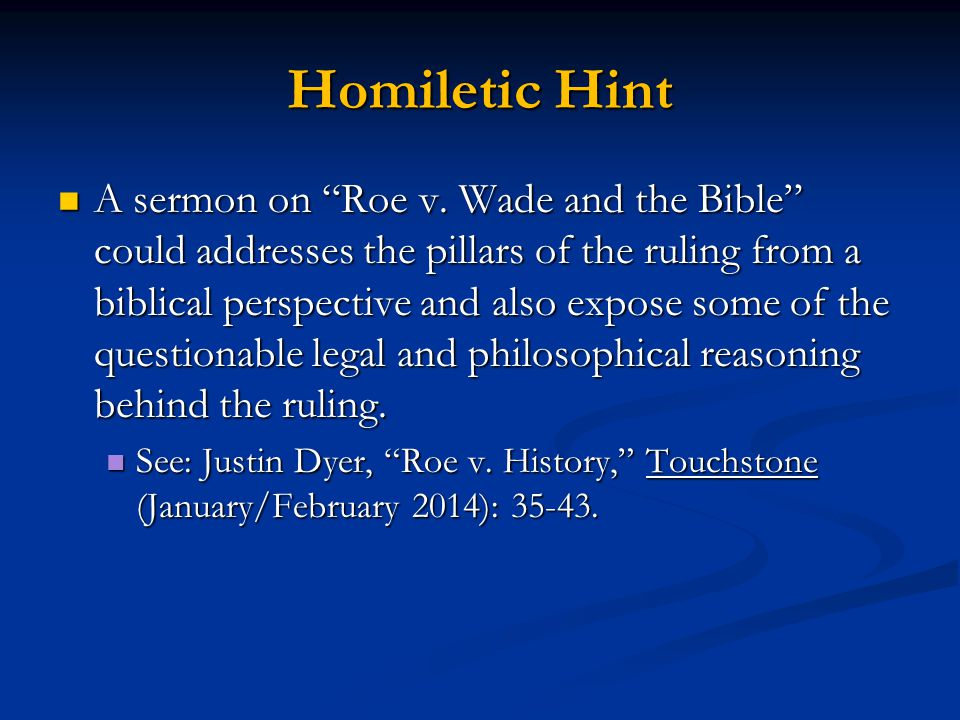 Homiletic Hint