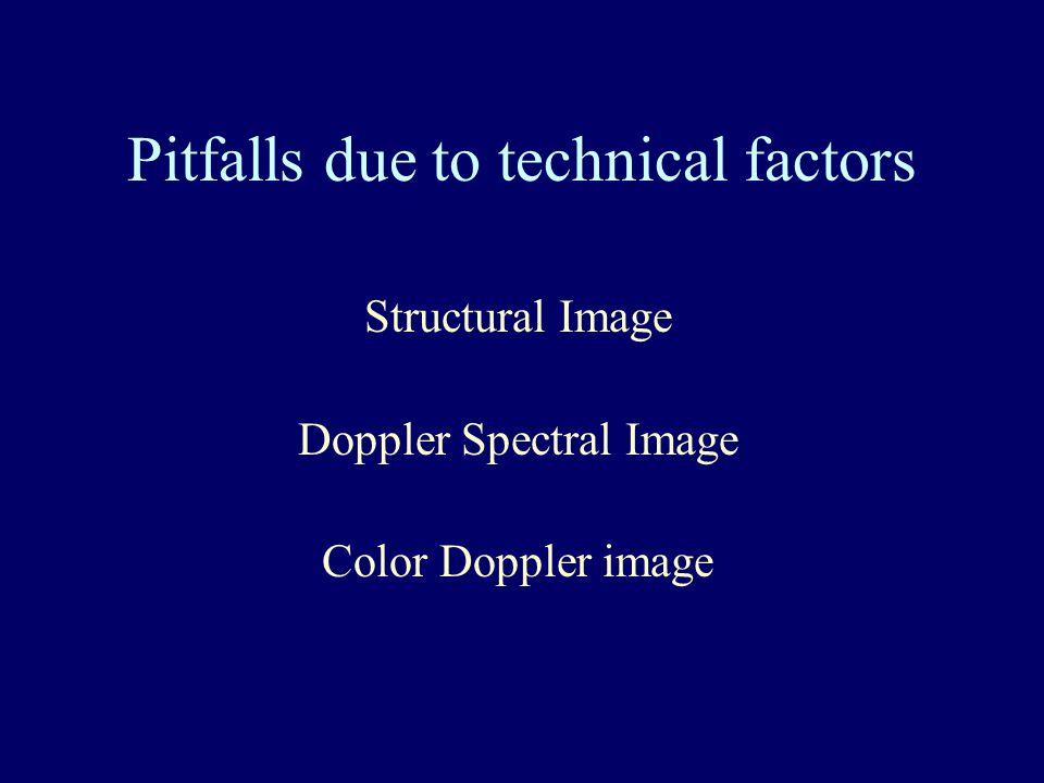 Pitfalls due to technical factors