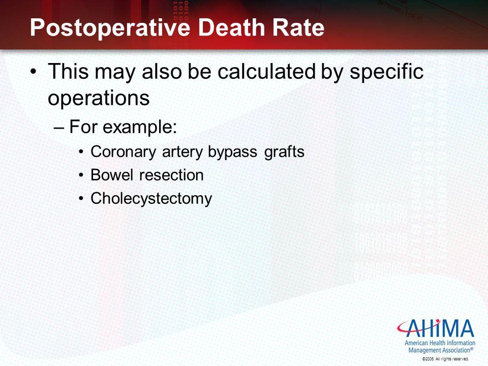 Postoperative Death Rate